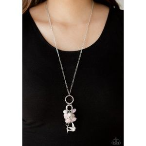 I Will Fly Pink Bird and Heart Tassel Necklace Set